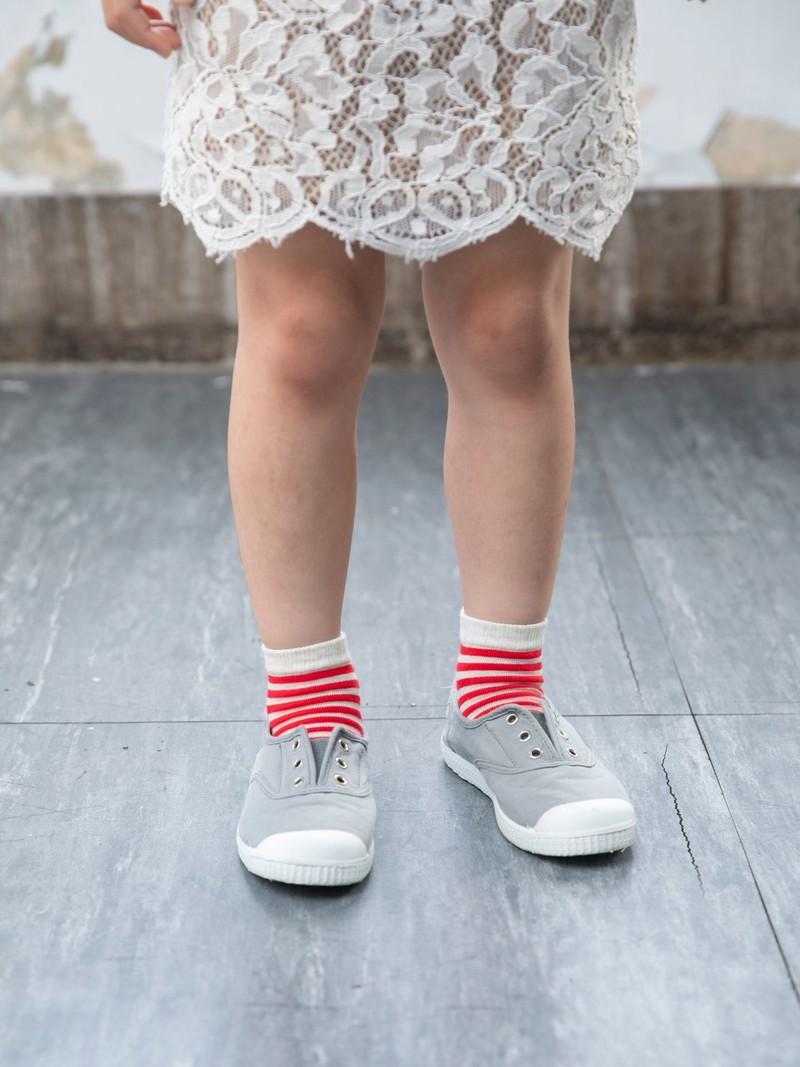 Kids Stripe Short Socks 16-18cm
