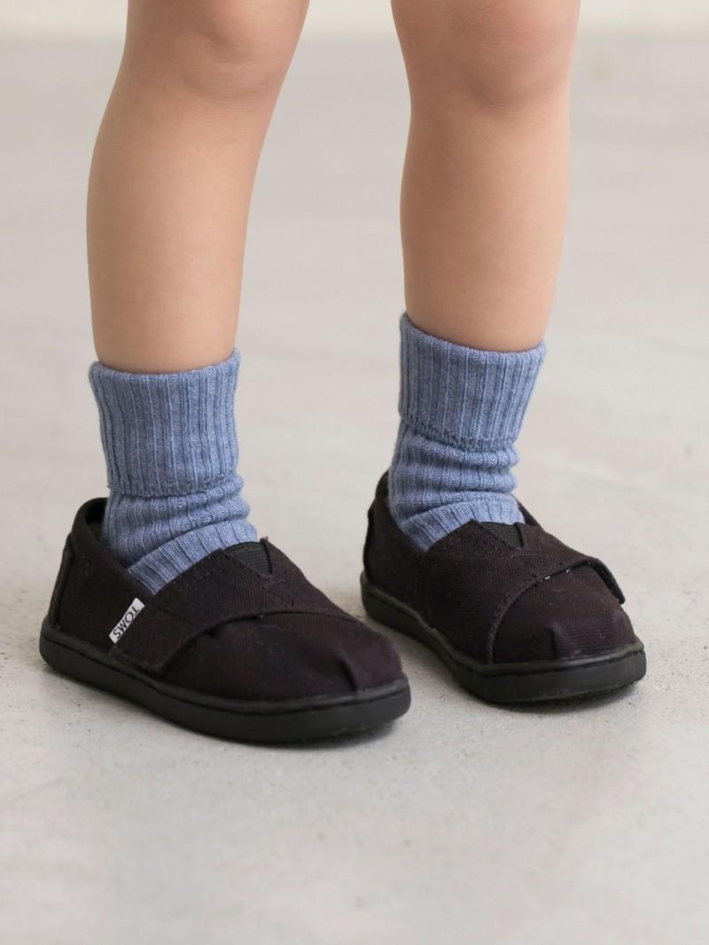 Gerippte Socke mit Klappkante Kinder 9-12cm
