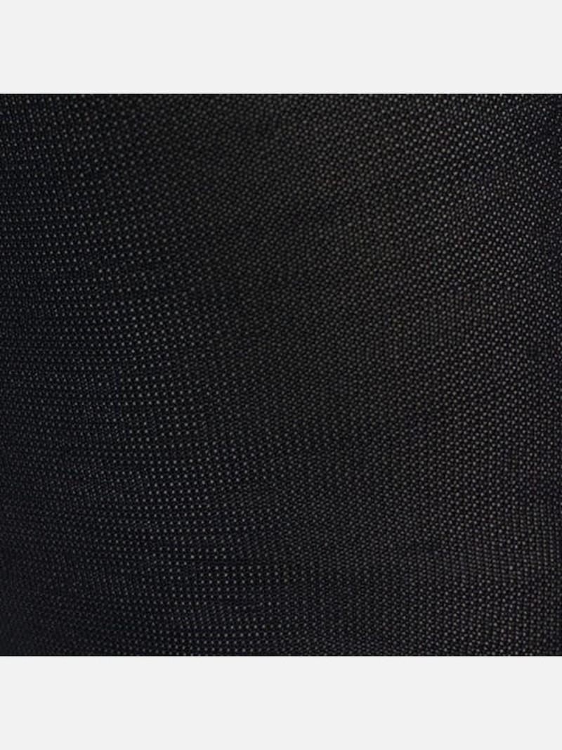 Fijne effen zijden hoge sok 280N M