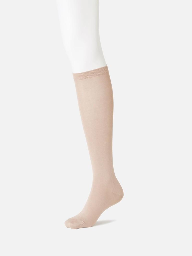 Hohe Socke schlicht fein 220N M