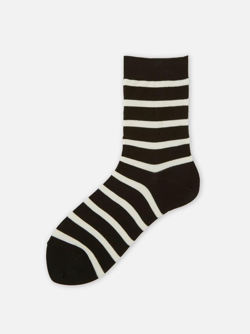 Mi-chaussette à rayures