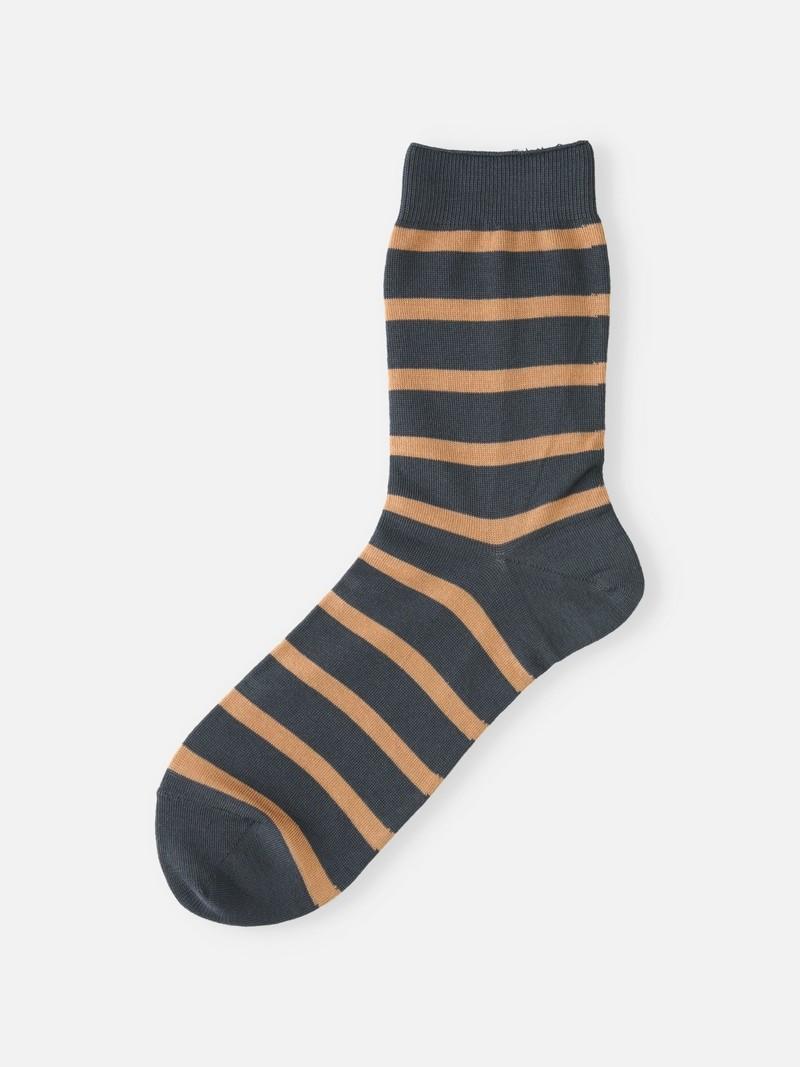 Gestreifte Crew-Socken