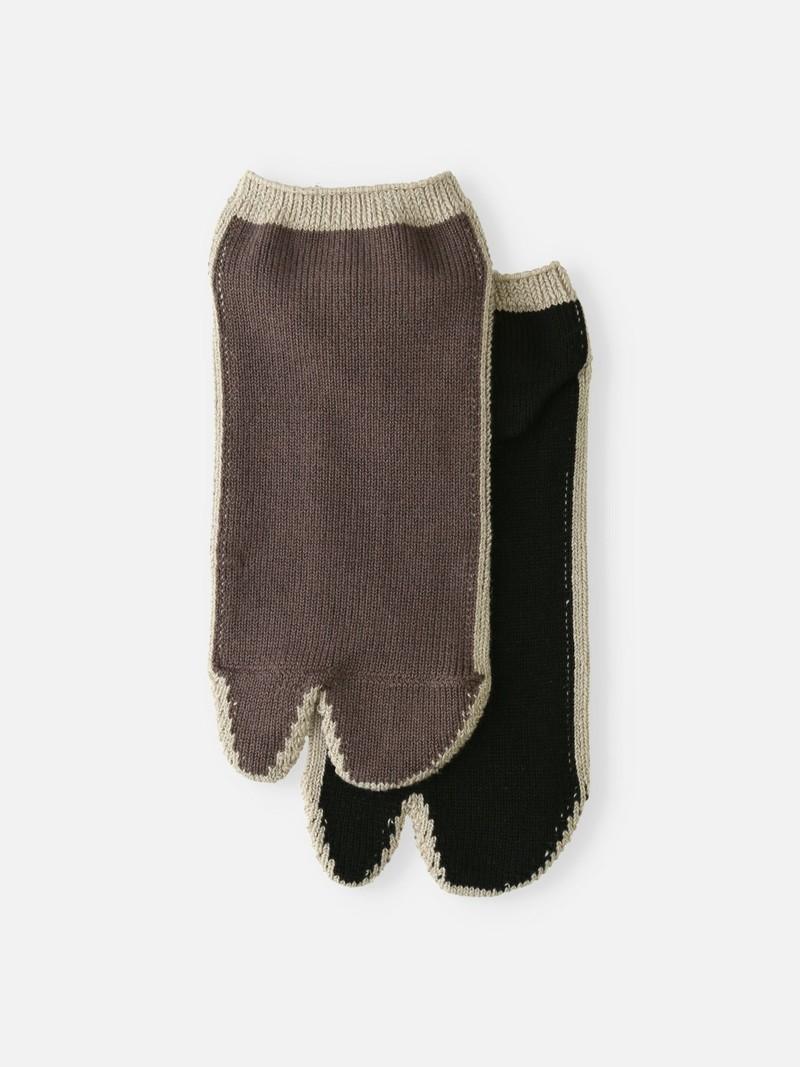 Kleur omlijnde Tabi-sokken M