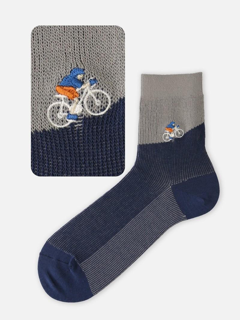 Socquette motif vélo