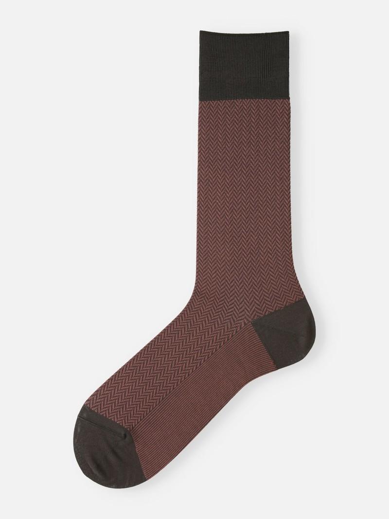 Jacquard Visgraat Halfhoge Sokken M