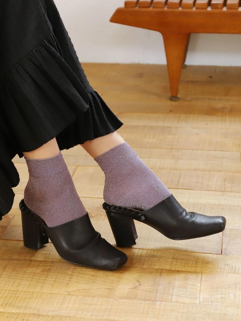 Weiche Glitzer-Crew-Socken