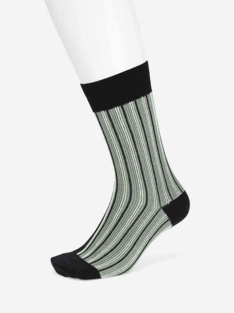 Gestreifte Socken mit Jacquard-Einsatz M