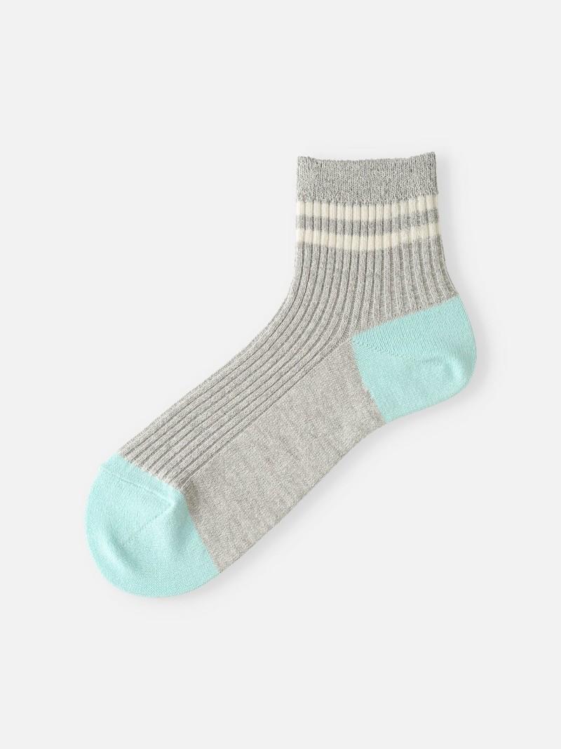 Washi 2 Lines gemêleerde korte sokken M