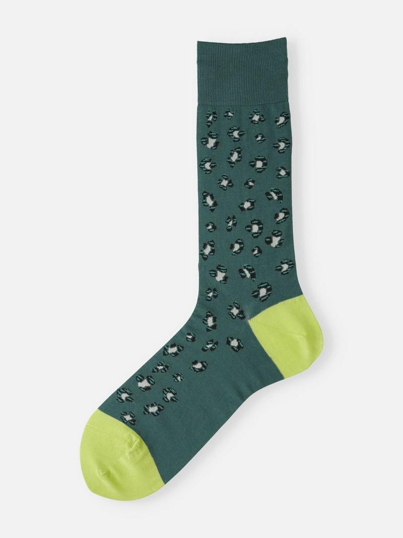 Moderne halfhoge sokken met luipaardprint M