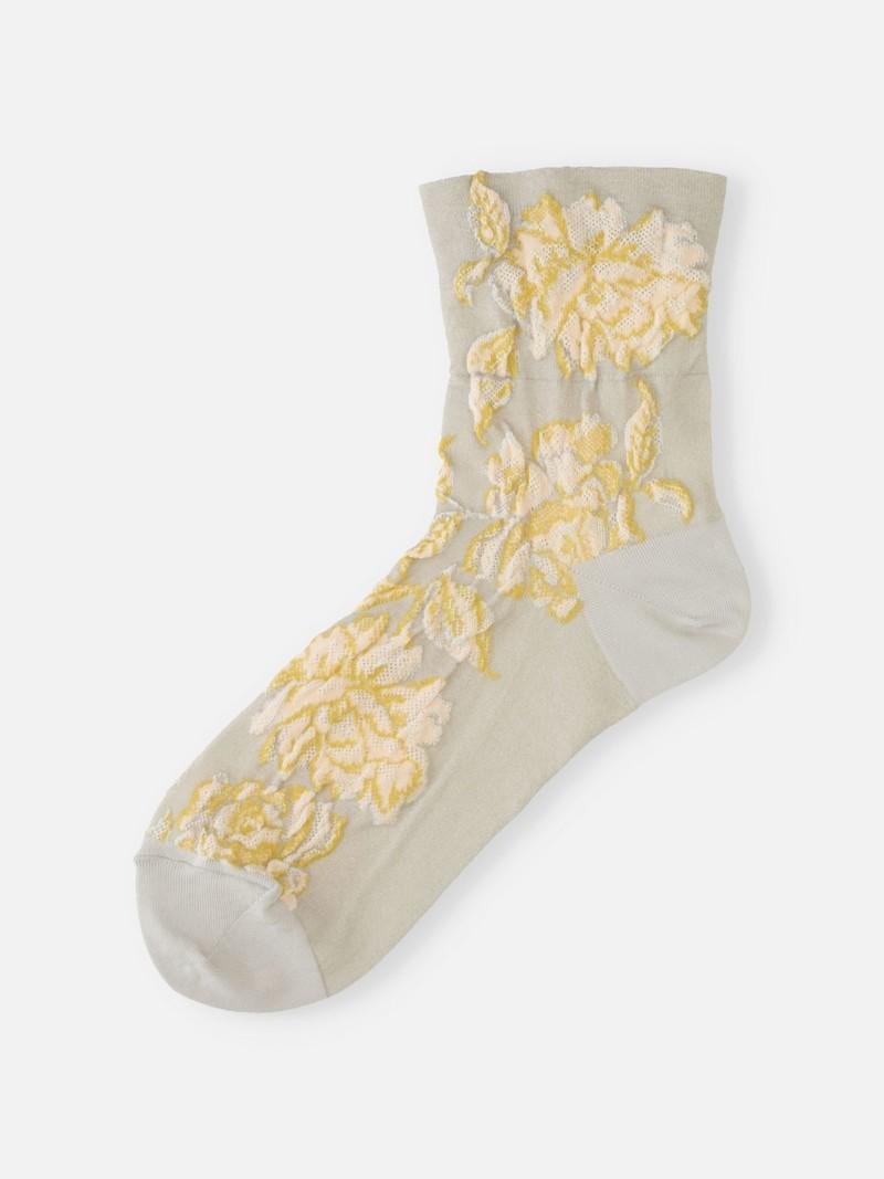 Float Rose Low Crew Socks