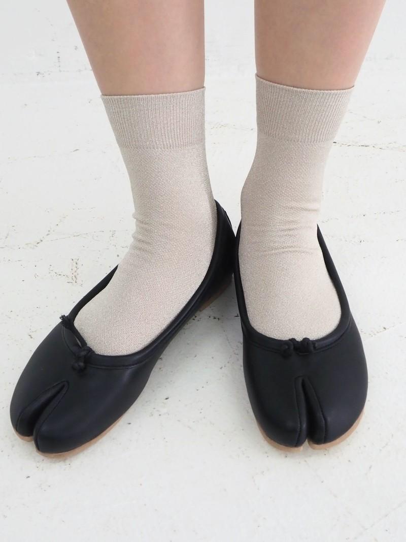 Fine Sparkly Tabi Low Crew Socks