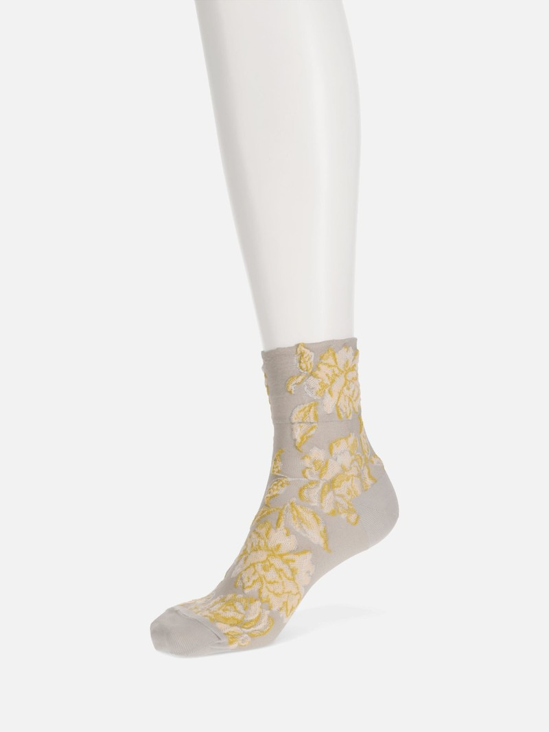 Float Rose Low Crew Socken