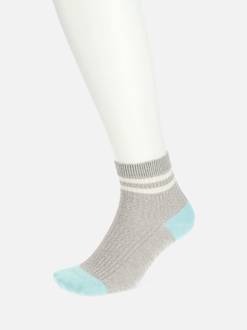 Socquette chinée en Washi 2 rayures M