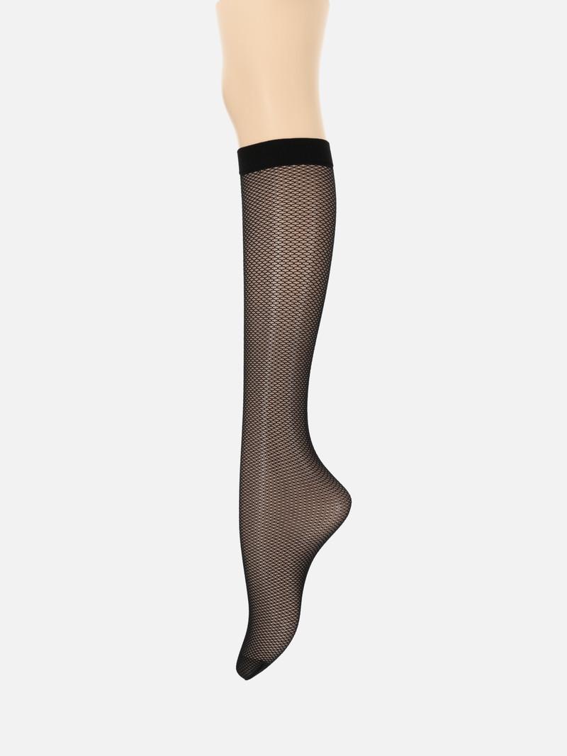 Micro Fishnet 50D Knee High Socks