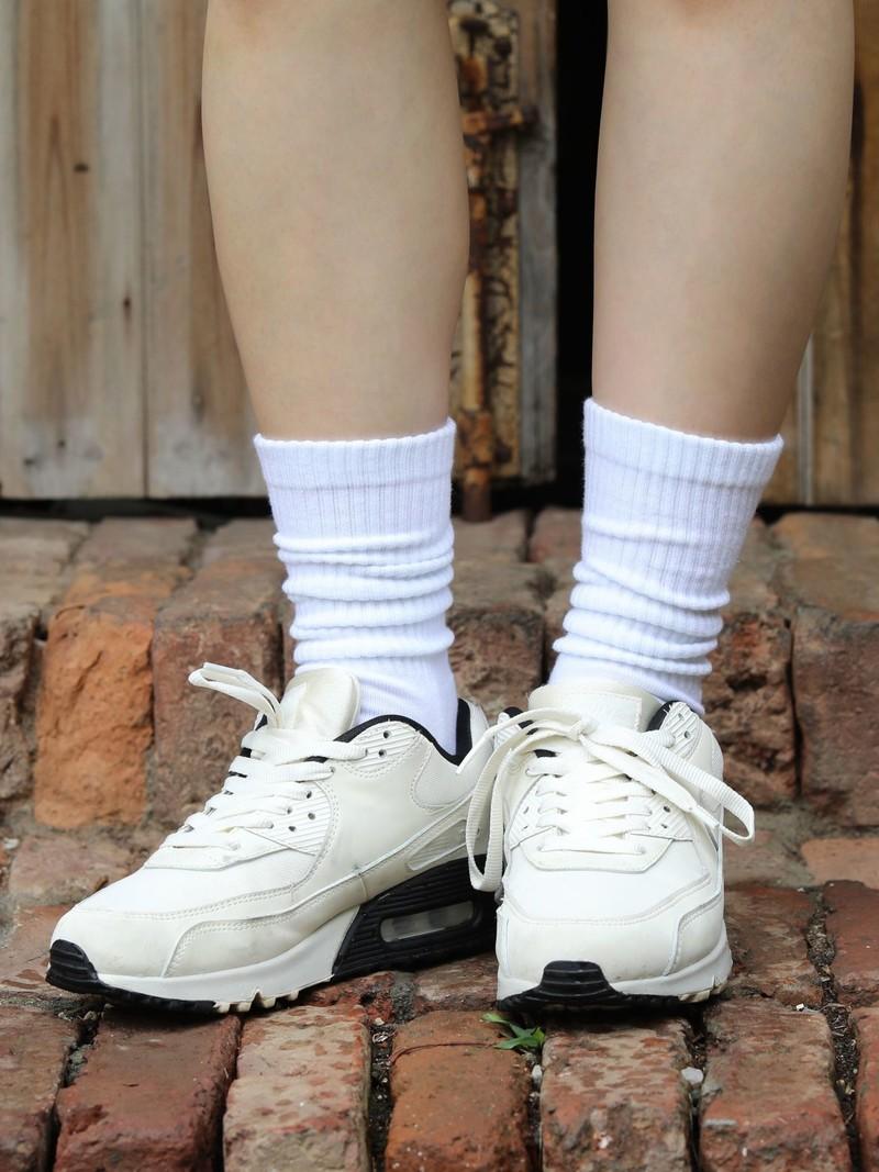 Plain Pile Sports Rib Socks
