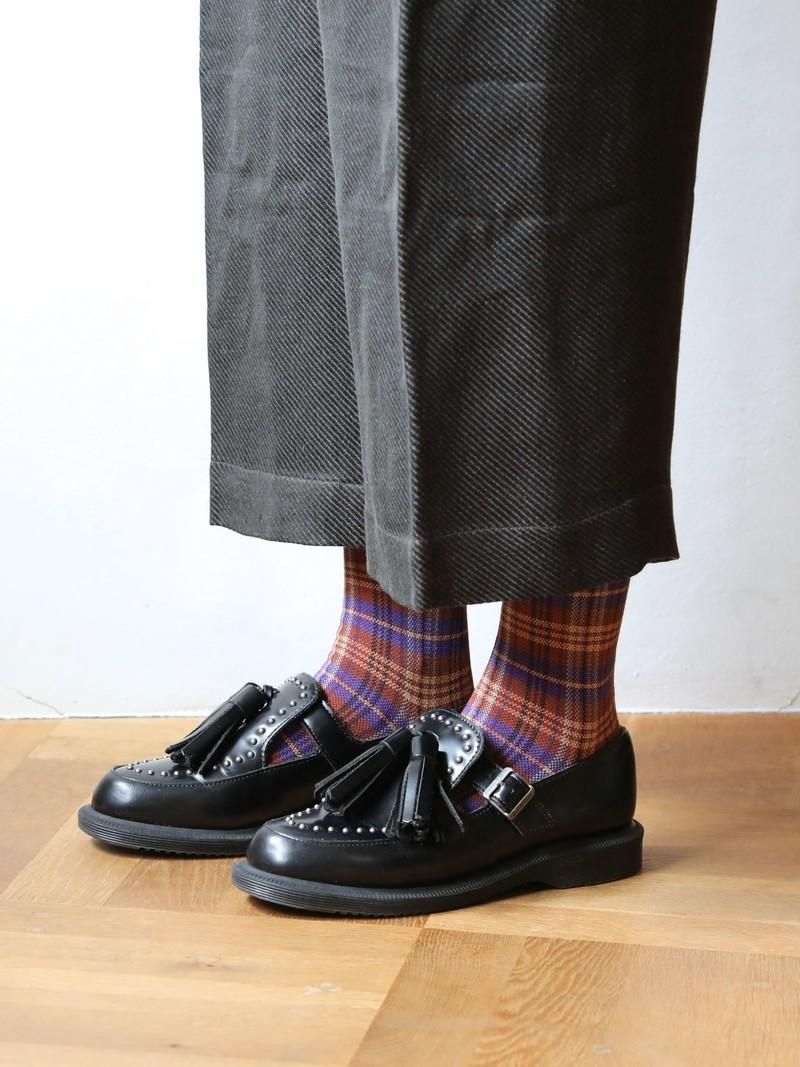 Karierte Crew-Socken mit Karomuster