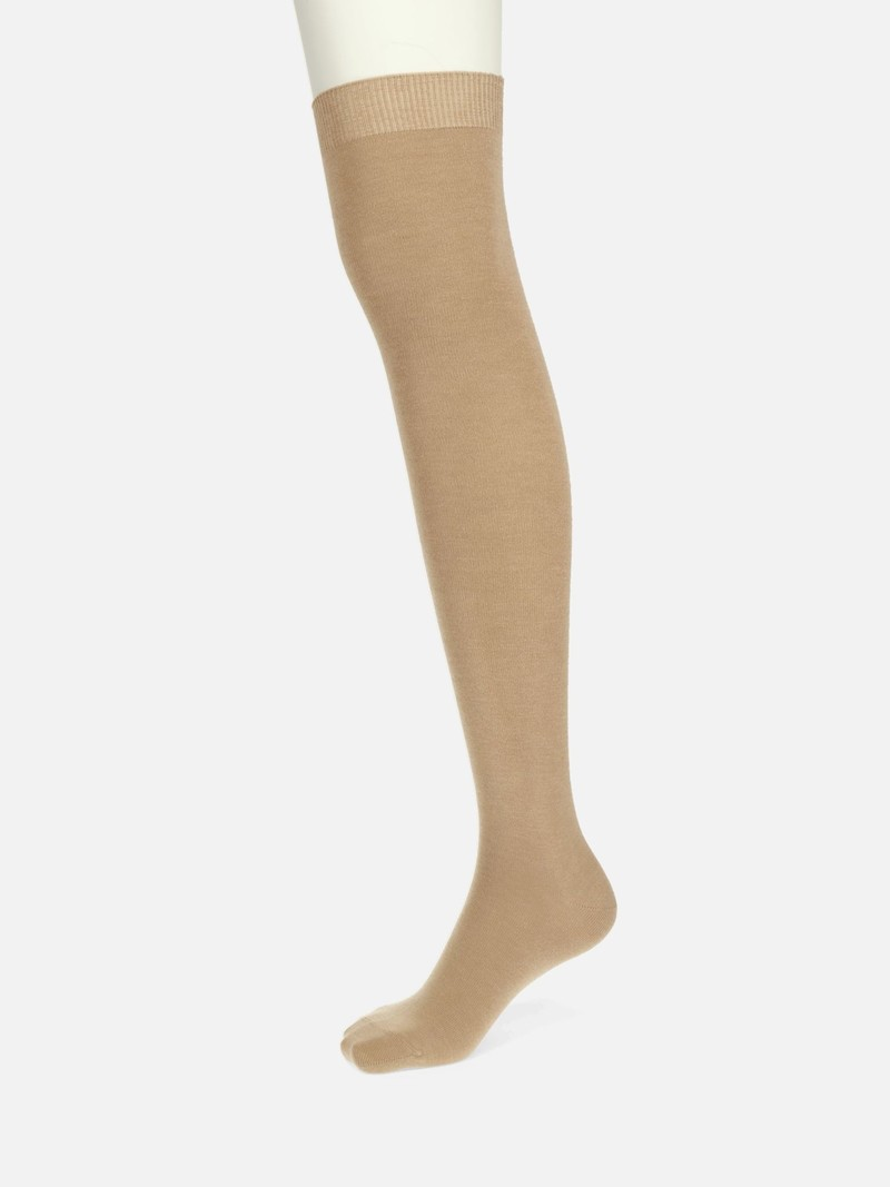 Plain Casual Over The Knee Socks