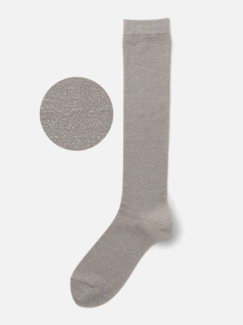 Lamé hohe Socke