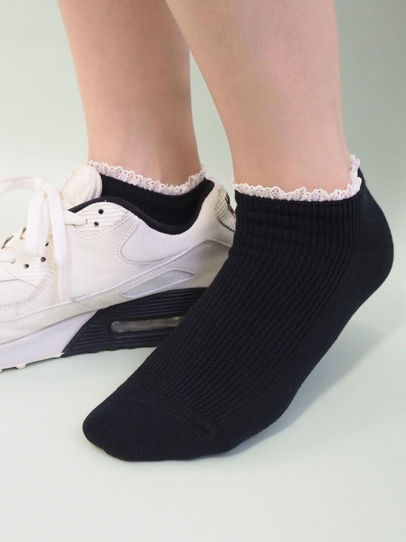 Mini gerippte Mini Socke