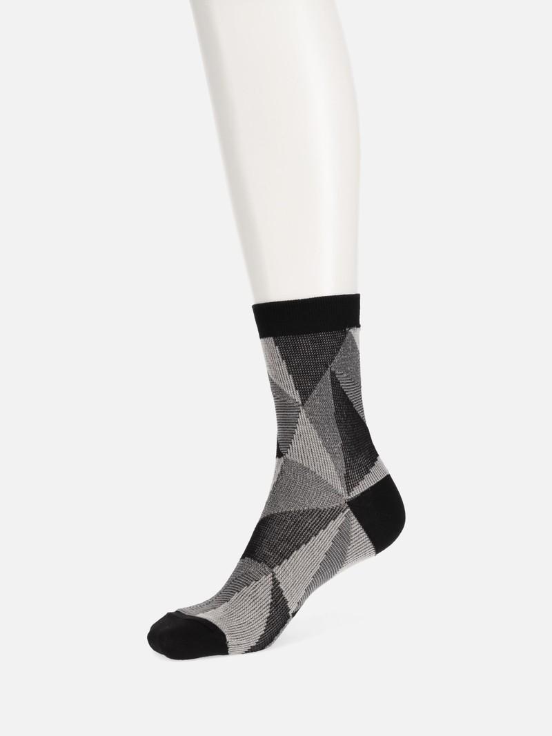 Jacquard Caleidoscope Crew Socks