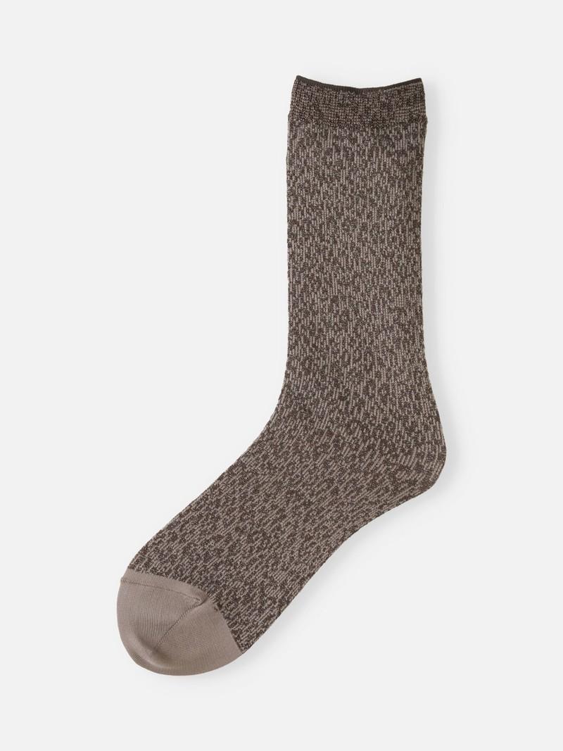 Leopard Lamé Jacquard Low Crew Socks