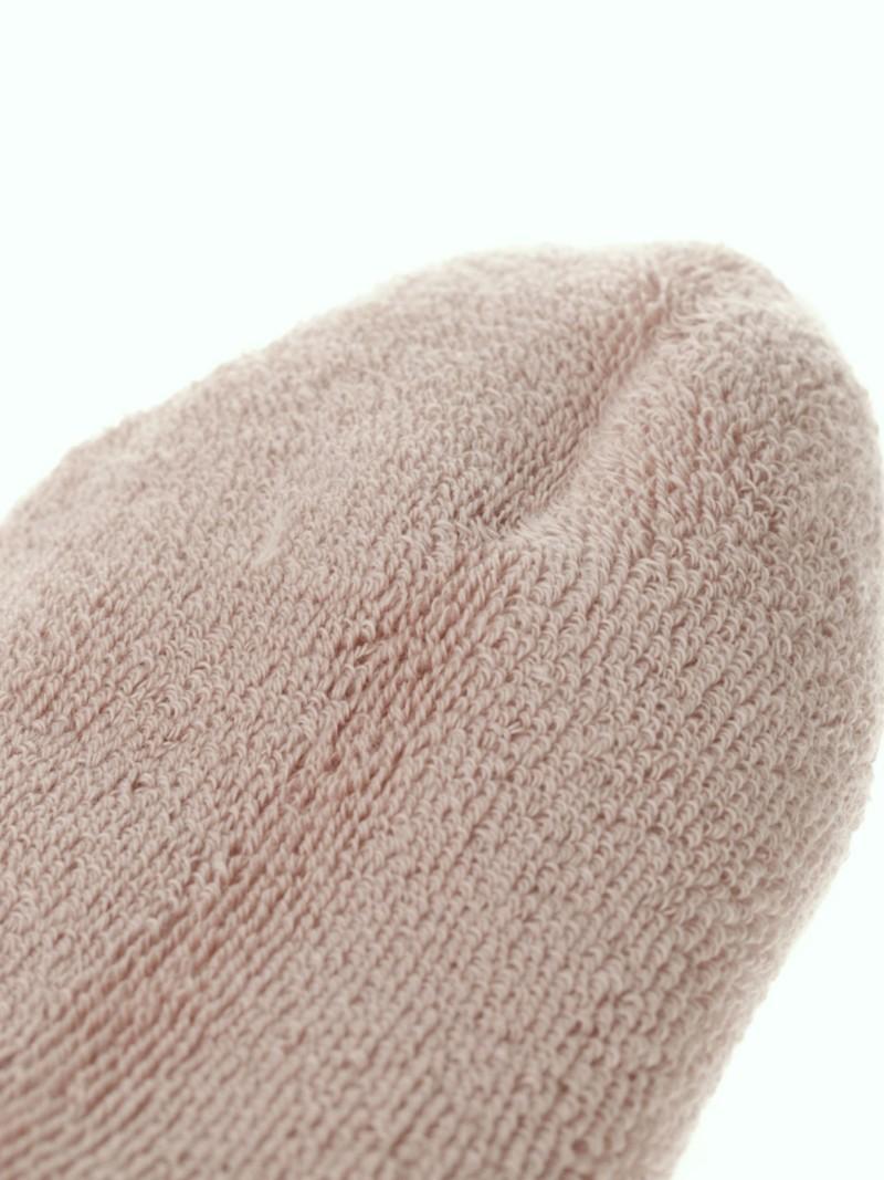 Mittlere Socke aus glattem Bio-Baumwollfrottee