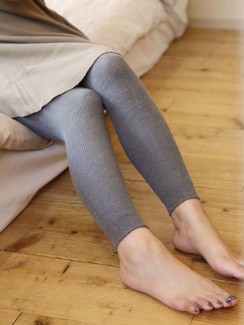 Angora Mixed Rib Leggings
