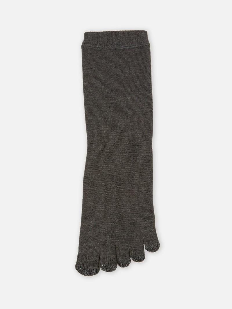 Akupunkt-Solar-Touch-Socken mit Rundspitze aus Wolle