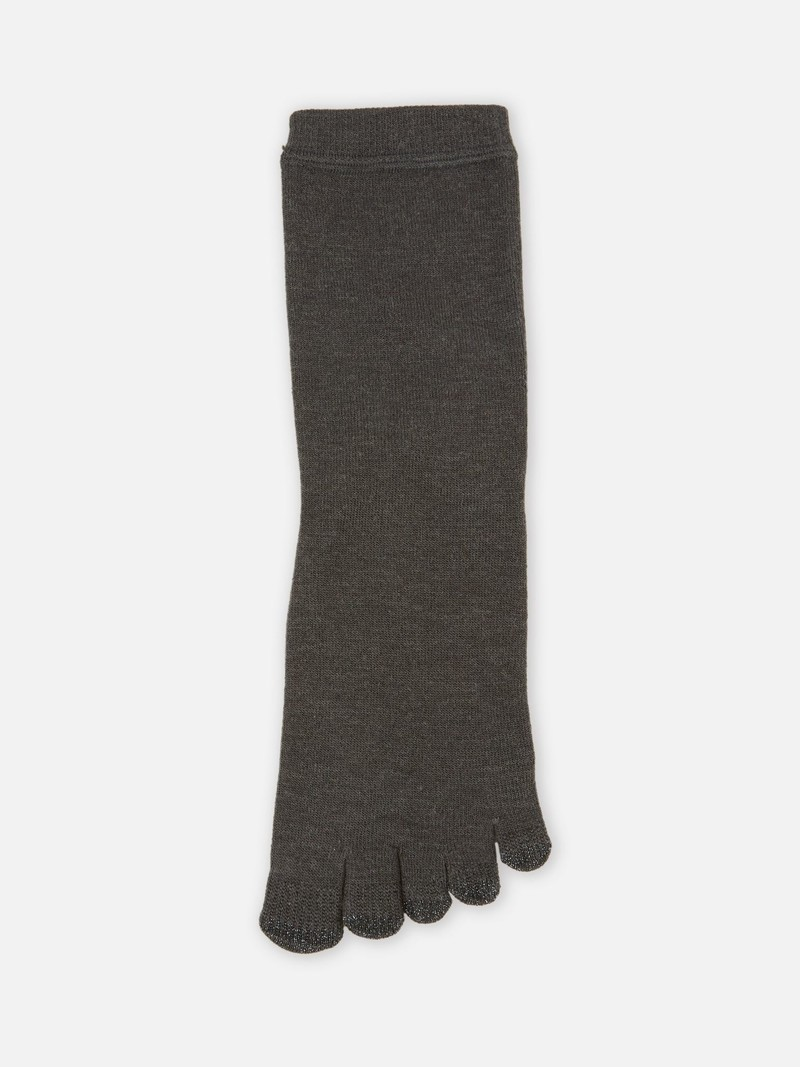 Wool Acupoint Solar Touch Crew Toe Socks