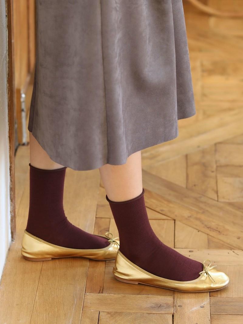 Premium Finest Merino Roll Top Low Crew Socks