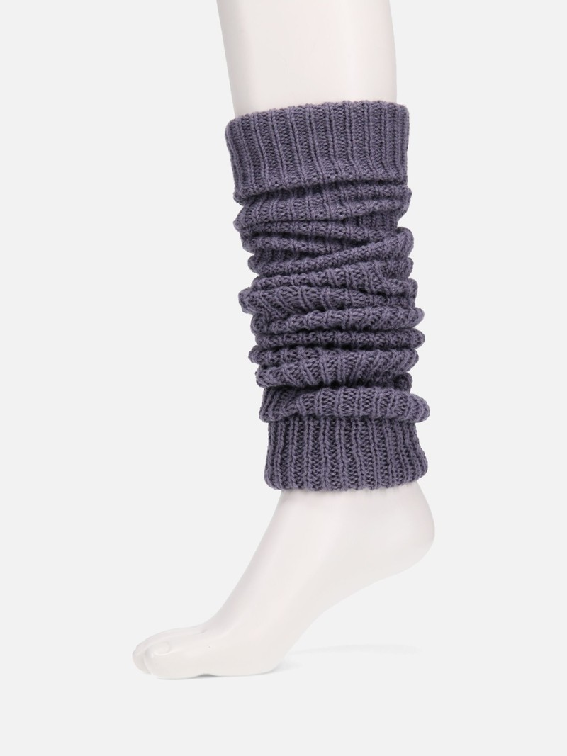 Bulky Yarn Ribbed Long Legwarmer