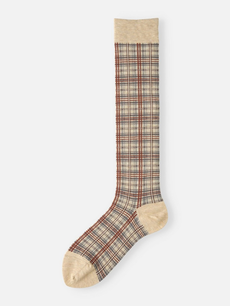 Tartan Check Knee High Socks