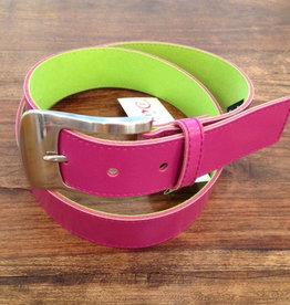 HWB Damengürtel Leder/Alcantara 4cmbreit Swissmade zweifarbig