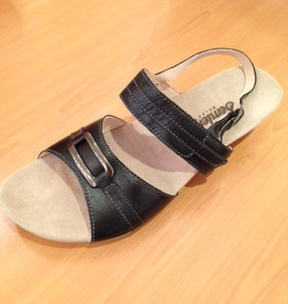 Semmler Semler Sandale Leder Absatz 3,5cm Klettverschluss