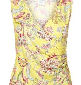 Eva & Claudi Eva Claudi Shirt Essential Print casche coer ohne Arm passend zu Jupes