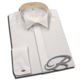 Botthof Botthof Slimline Smoking Hemd AL 72cm 100%BW, Kläppchenkragen, Doppelmanchette rund,