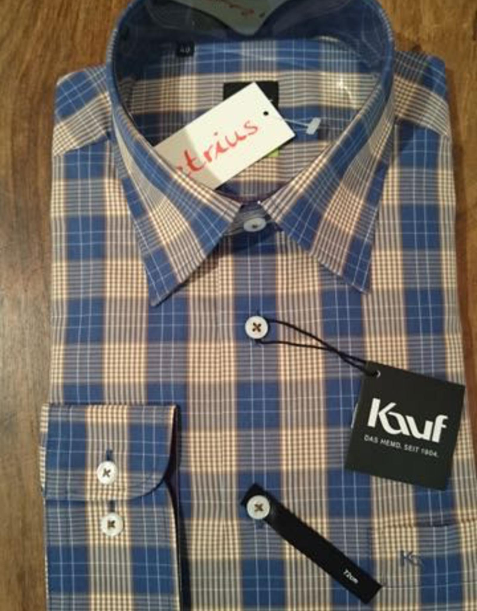 Kauf Kauf Slimfit H-Hemd, tailliert, karro