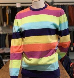 Moray Moray Pullover Striped Crew Neck, Cotton/Silk/Cashmere
