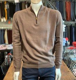 Maglificio Liliana Montechiaro Pullover Stehkragen mit Zipp, 90% Wolle 10% Cashmere, cashmere-blend