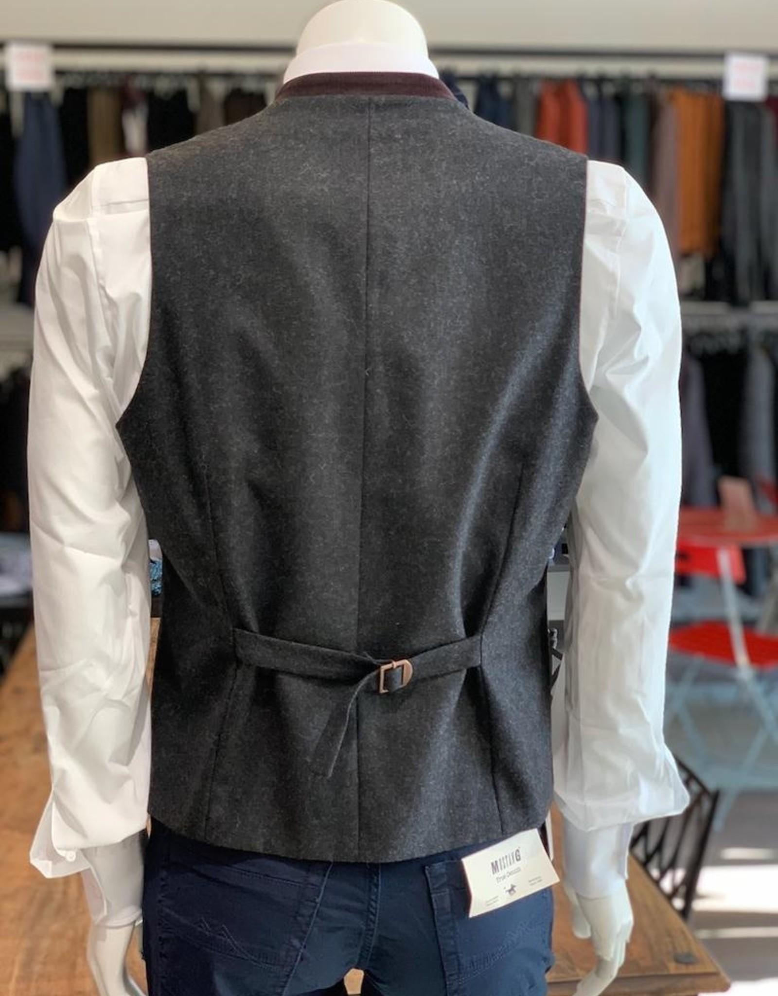 Atelier Torino Atelier Torino Weste Alder Loden mit Cord Versatz