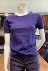 Moray Moray Damen Twin Set Top kurzam, Cotton/Silk/Cashmere
