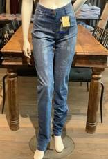 Club of Comfort Club of Comfort Sandy Länge38inches, FW:16cm Batikprint Jeans Slim