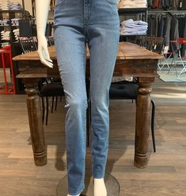 Paddock's Paddock's Pat, high rise slim leg, mid blue stone washed