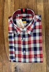 Kauf Kauf Hemd Modern Fit Kurzarm farbiges Karo rot blau
