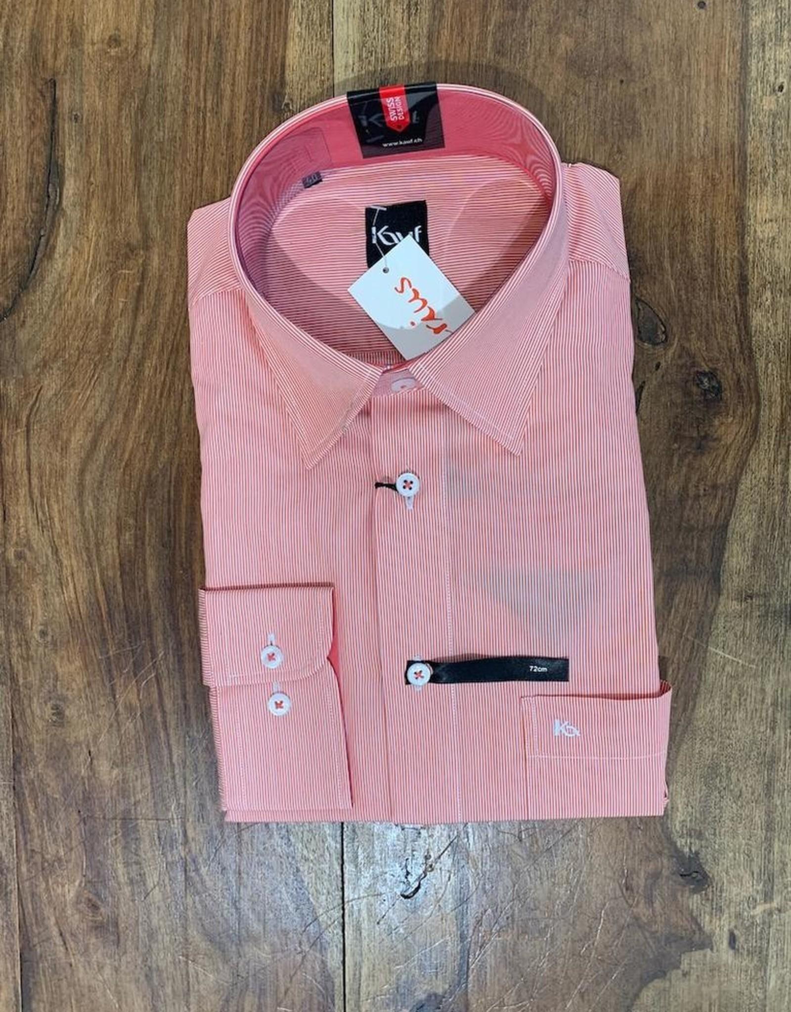Kauf Kauf Hemd Modern Fit Feiner Streifen rot Armlänge 72 cm