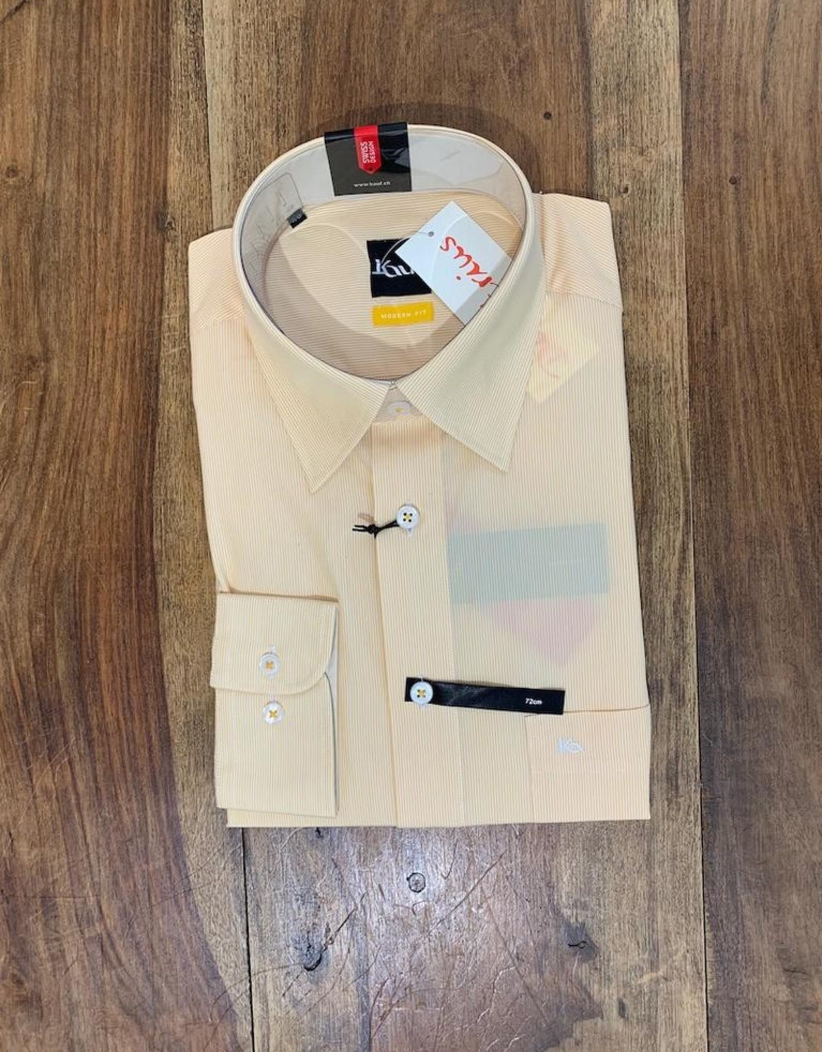 Kauf Kauf Hemd Modern Fit Feine Streifen gelb Armlänge 72 cm
