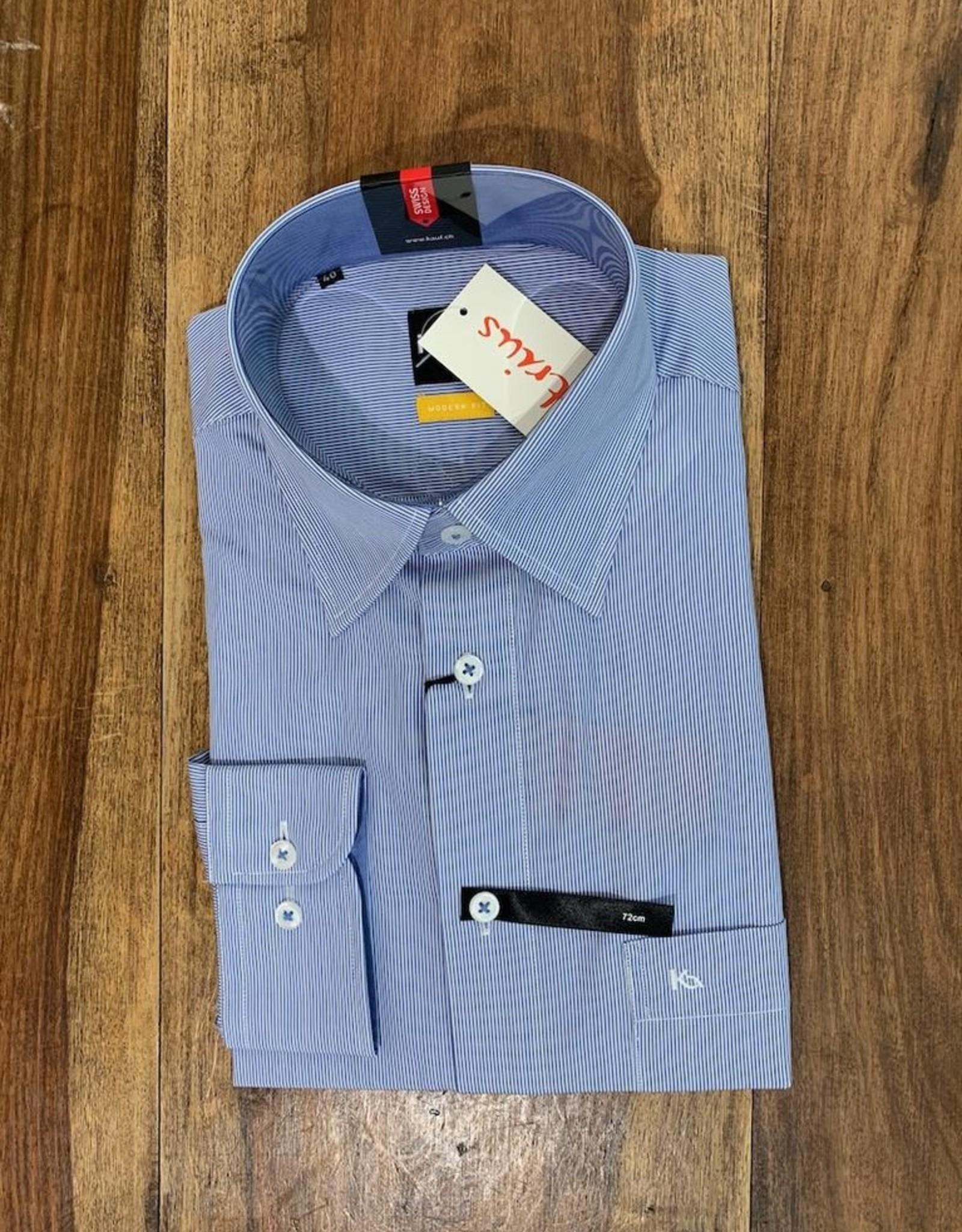 Kauf Kauf Hemd Modern Fit feiner Streifen blau Armlänge 72 cm