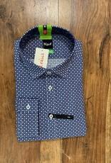 Kauf Kauf Hemd Body Fit <br /> Minimals blau grau Kreise<br /> Armlänge 72 cm
