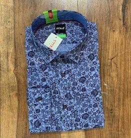 Kauf Kauf Hemd Body Fit <br /> Blumen blau blau<br /> Armlänge 72 cm