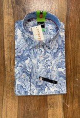 Kauf Kauf Hemd Body Fit <br /> Grosses Pasley blau weiss<br /> Armlänge 72 cm